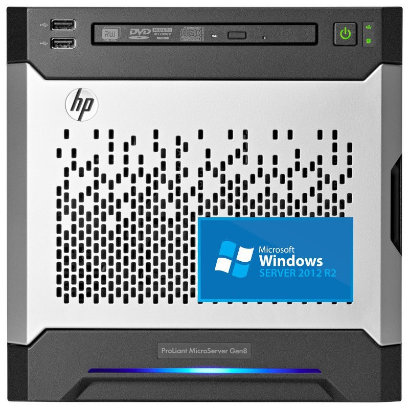 Pack MicroServer HP G8 Intel G1610T/4GB con Window Server 2012 R2